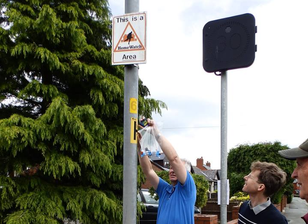 Residents of Standish, Wigan are installing gas diffusion tubes, May 2014